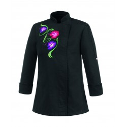 CHAQUETA BLACK FLOWERS