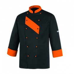 CHAQUETA COCINA UNISEX PATCH ORANGE