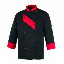 CHAQUETA COCINA  UNISEX RED PATCH