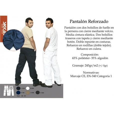 PANTALÓN DE TRABAJO SIGFILA GRIS 312 CON REFUERZO