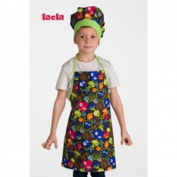 PACK DELANTAL Y GORRO INFANTIL MONSTRUOS