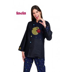 CHAQUETA COCINA UNISEX M/L COMECOCOS TEJANA
